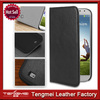 Black Leather Flip Pouch Wallet Book Case For Samsung S4,Smart Cover Case For Samsung S4