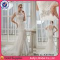 creare il proprio abito da sposa senza schienale con elegante appliqued pizzo francese