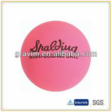 hot sale pink color hollow rubber balls