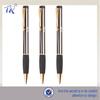 Gold Plating Rubber Barrel Cheap Twist Ball Pen