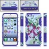 best gift for iPhone5 flower patterns hard case combo cover