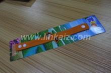 Fashionable hot selling pvc cute design bracelet key