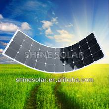 semi-flexible solar panel use on yacht, car, boat, snow mobile, golf-cart