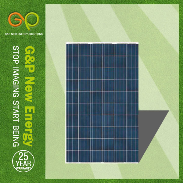g&p 250w 폴리 실리콘 태양 패널 고품질 태양 전지, 9 년 태양 전지판 제조업체