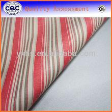 Yarn dyed cotton stretch poplin fabric