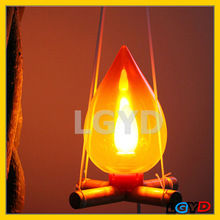 Novelty Creative 10W / 220V LED Simple Bonfire Light / Flame Energy Saving Lamp