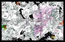Rili Doodle Art Fuzzy Velvet Posters