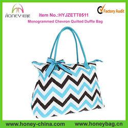 Monogrammed Chevron Or Zebra Print Quilted Duffle Bag Quilted Dance Bag Quilted Ballet Bag Quilted Chevron Diaper Bag