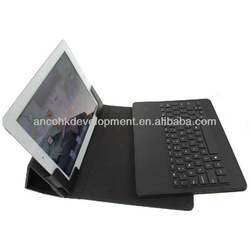 WIRELESS LEATHER BLUE TOOTH KEYBOARD FOR TABLET
