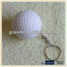 Custom color&logo golf ball PU stress keychain