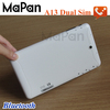 7 inch dual sim tablet phone cheap a13 tablet/mapan mx710d-2g 7 inch q88 phone call 2g tablet