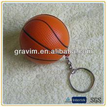 4cm diameter basketball PU foam keychain