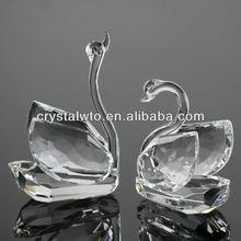 crystal double swan for wedding gift