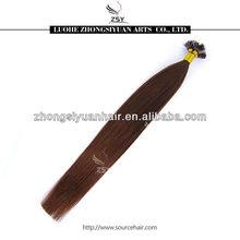 ZSY Brazilian/Inidan/Chinese/Russian hair extensions wiht flat keratin tip
