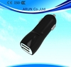 5V 2.1A dual USB Car Charger, USB Car charger for IPAD, Iphone series and other mobile phones