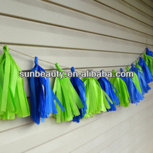 Birthday Party Decoration Tissue Paper Tassel Garland Your Colors Wedding,Baby Shower Decoration