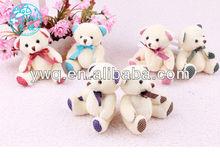 Looking good Birthday present cute teddy bear with mini ribbon /mini rabbit for 2014