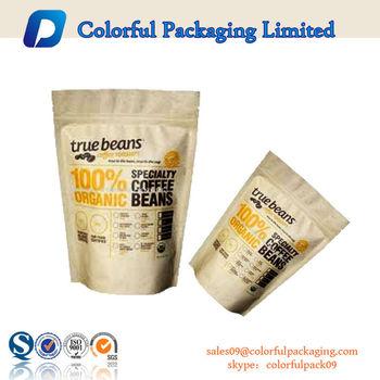 Kraft Paper Bags For Dry Food Packaging With Custom Logo