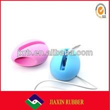 2014 silicone portable mini music mobile phone speaker/ amplifier/megaphone