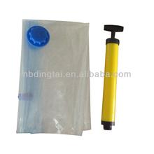 customized Jumbo vacuum sealed storage zipper bags organizer for travelling/plastic bag/ Nylon PE bag/with air pump