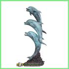 Outdoor copper garden Dolphin Statue BAS-T040V