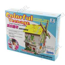 Colorful Teenage Creative Cardboard House for Kids