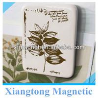 Hot Selling!! High Qualtiy Tree Leaf Ceramic Tile Fridge Magnet for Promotion