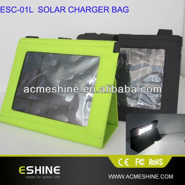 hot selling black Custom solar charger bag for laptop supplier
