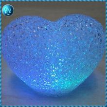 LED romantic love seven lights gift, love LED crystal lamp