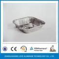 De alta calidad de los alimentos de grado caliente de la venta del hogar reciclable del medio ambiente( iso9001/iso14001/fda/sgs) inflight catering de papel de aluminio contenedor