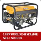 Best price! 100% copper wire electric start 3kva 3kw 3000 watt generator silent gasoline