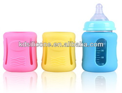 Drop Proof Baby Wide Bottles Case/Heat Resistant Wide Glass Bottle Protective Cover/Anti-slip Baby Wide Milk Glass Bottle Cover