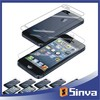 Top A quality for iphone 4 front and back crystal screen protector anti-scratch 3H