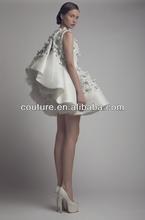 2014 top brand dress design sleeveless floor length long custom make SS005 back neck design for dresses