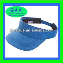 Soft & breathable 100% cotton women sun visor cap plain golf sun visor with adjustable velcro