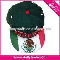 embroider Mexico flag design baseball hat