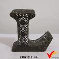 reciclado pequeñas de metal decorativos las letras del alfabeto