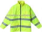 EN471 Roadway Yellow Safety Reflective Winter Jacket Detachable Sleeves