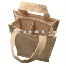 (TWS140501) Feee samples China manufacture double wine bottle jute bag