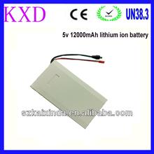 Portable 12000mah rechargeable li-ion 5v battery pack