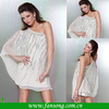 Lovely Silver Appliqued One Shoulder Ivory Chiffon Cocktail Dress 2014