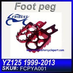 For YAMAHA YZ125 1999-2013 T6061 Aluminum CNC Machined Motocross Footpegs FCPYA001