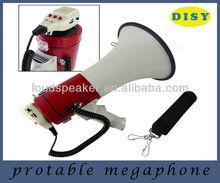Professionnelle Piezo dynamique 50 Watts mégaphone avec fonction d'enregistrement