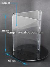 3 Sides Acrylic Menu Holder,Rotating menu stand