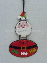 NEW DESIGN 14-1/4''H Santa/Snowman Slate Hanging Ornament