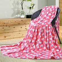 Small broken flower fashion polar fleece blankets