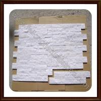 white quartz stack stone veneer