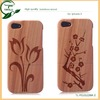 wholesale for wood iphone covers/hot selling engraved wood skin back cover case accessories for iphone