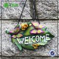 Folha Polyresin bem-vindo decoração decoração da porta