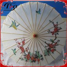 flower and bird pattern parasol chinese paper umbrellas